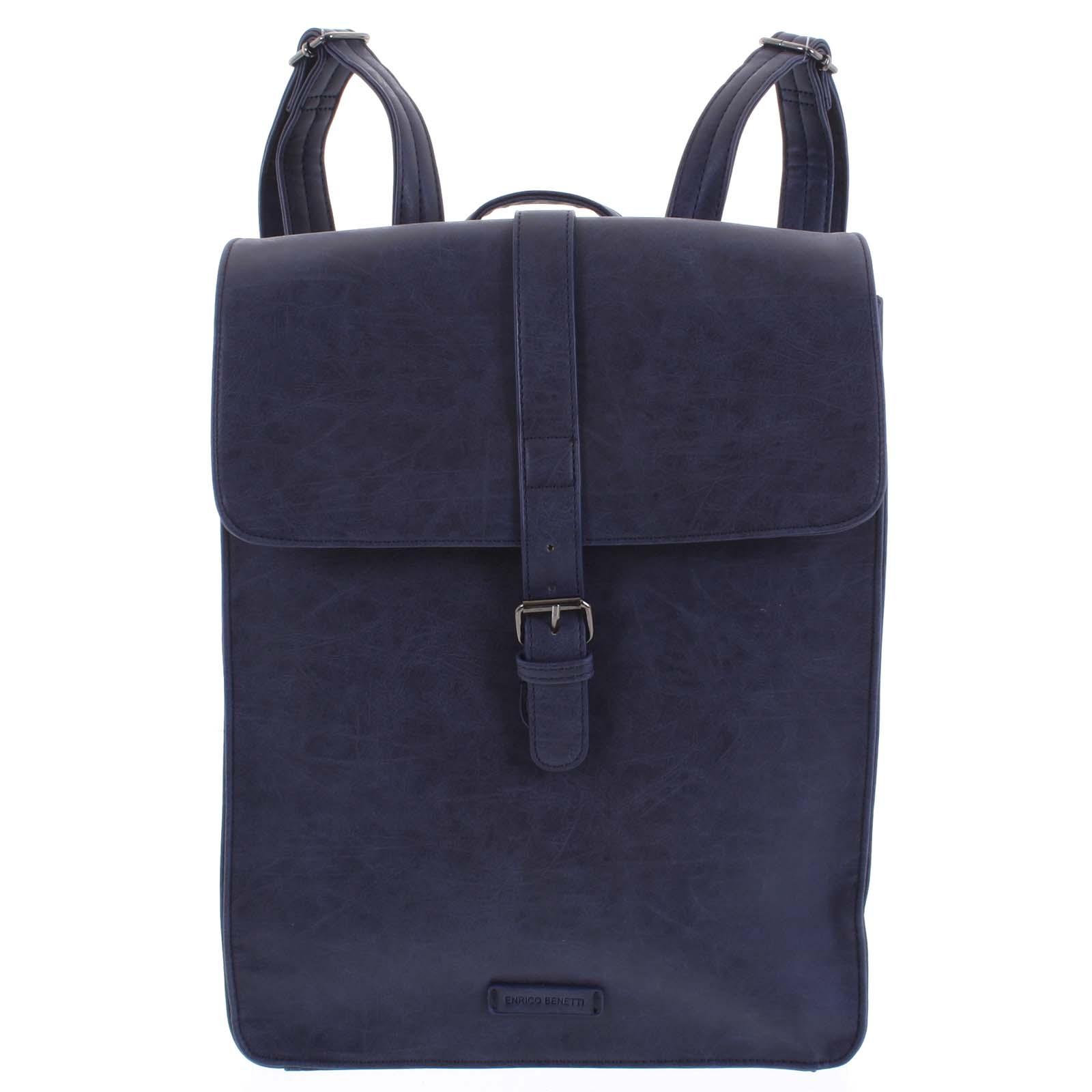 Stylový batoh tmavě modrý - Enrico Benetti Darlo