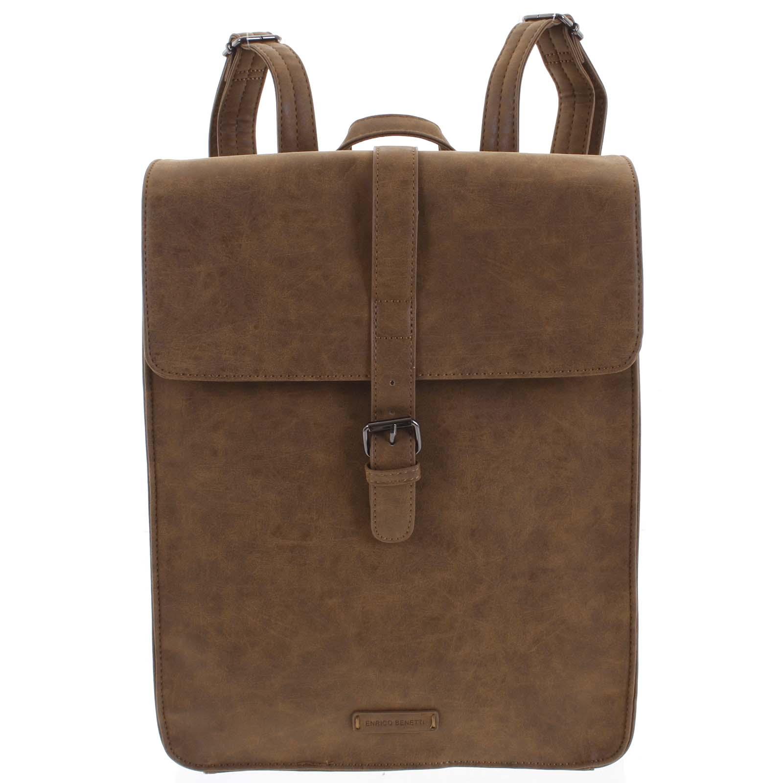 Stylový batoh camel - Enrico Benetti Darlo