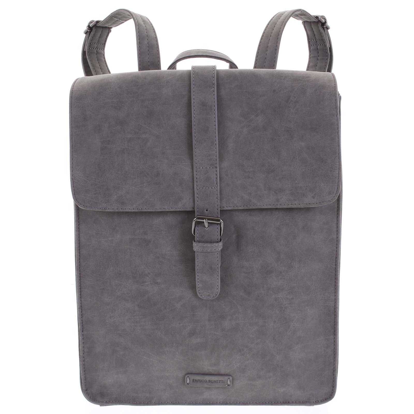 Stylový batoh šedý - Enrico Benetti Darlo