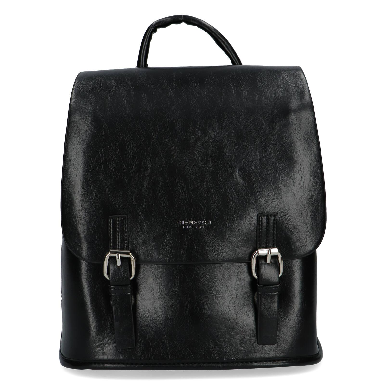 Dámský městský batoh černý - DIANA & CO Bretcho