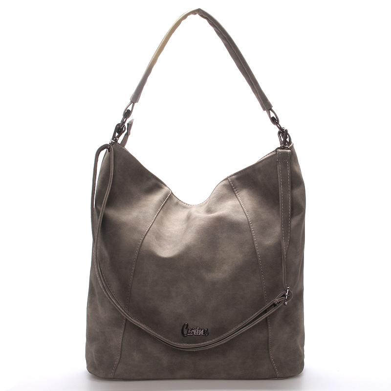 Velká dámská kabelka šedá - Carine Macy