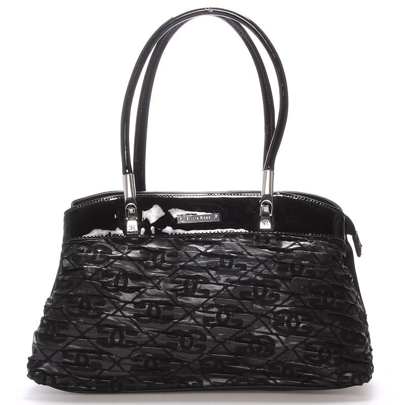 Menší kabelka černá s texturou - Silvia Rosa Nanon
