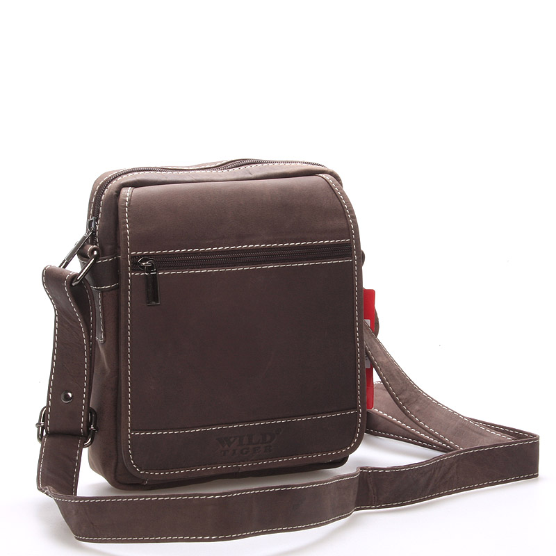 Pánská kožená taška hnědá - Wild Rust