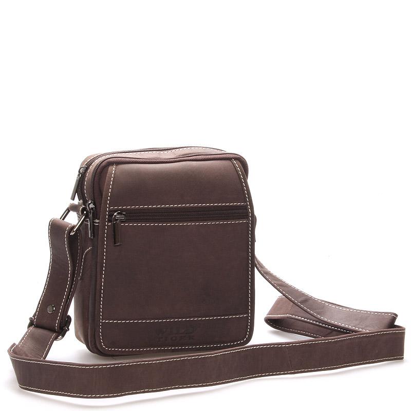 Pánská kožená taška hnědá - Wild Silvestre