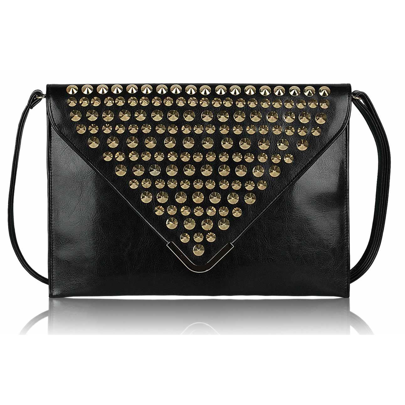 Černé obálkové psaníčko LS Fashion - Minna
