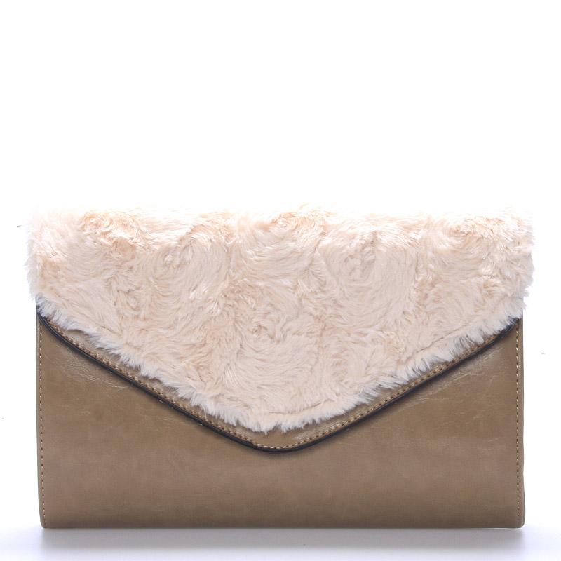 Dámské luxusní khaki psaníčko - Belda