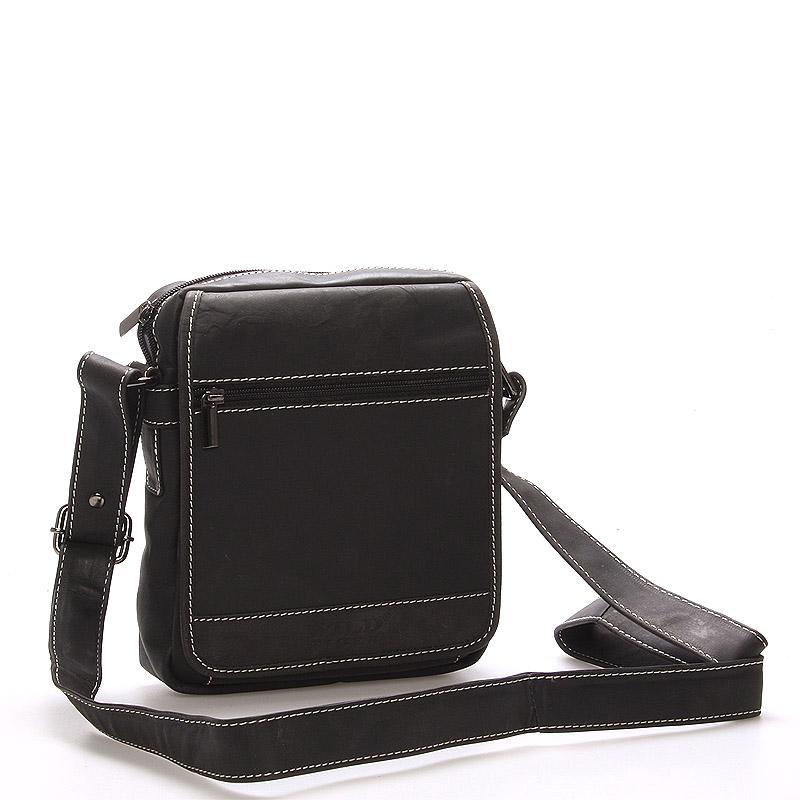 Pánská kožená taška černá - Wild Rust
