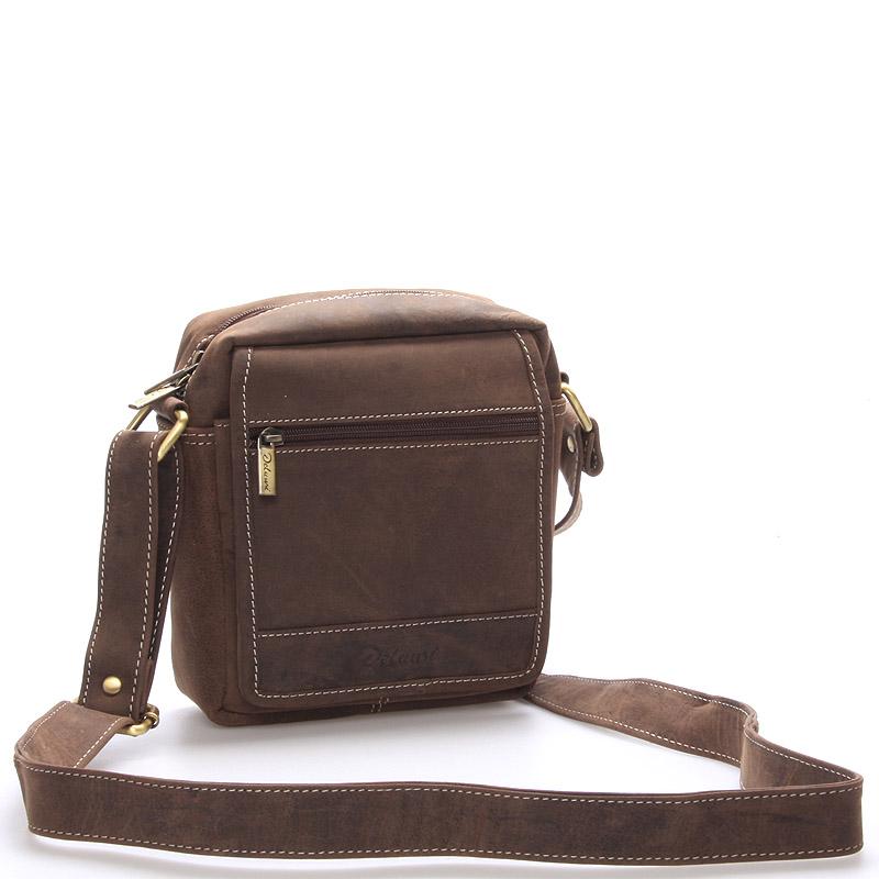 Pánská kožená taška hnědá - Delami Gilberto
