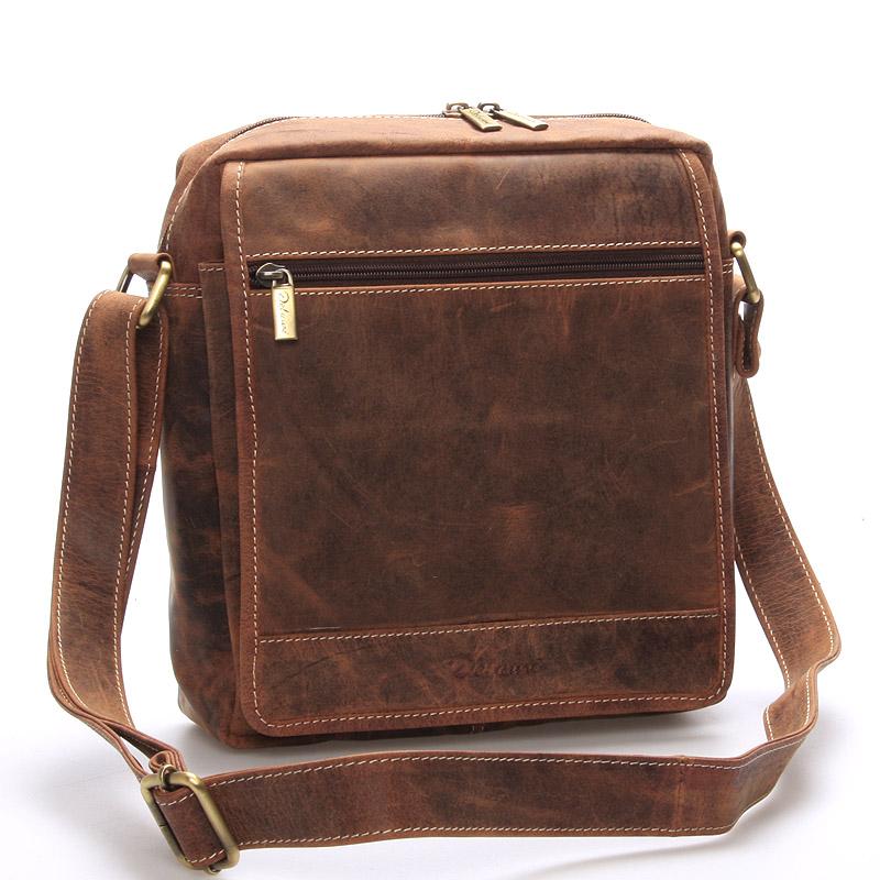 Pánská kožená taška hnědá - Delami Teodoro