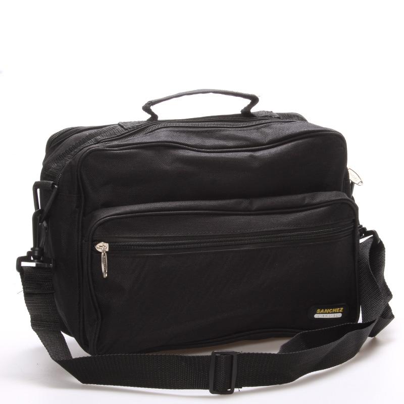 Pánská látková taška přes rameno černá - Sanchez Blais