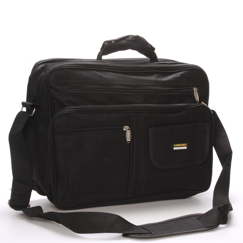 Pánská látková taška přes rameno černá - Sanchez Garen