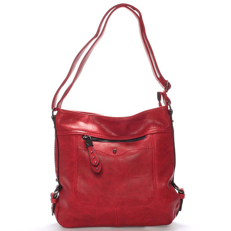 Dámská crossbody kabelka červená - Delami Vivienne