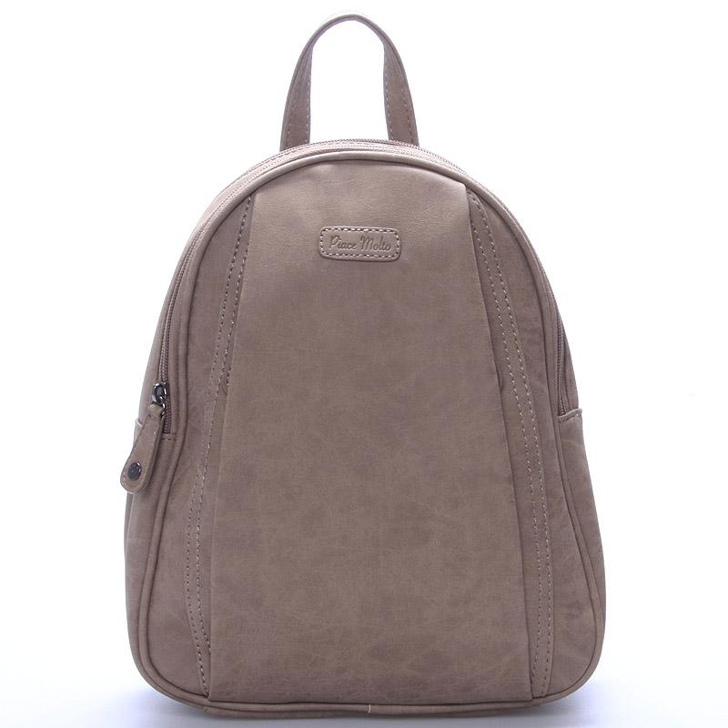 Dámský módní batůžek camel - Piace Molto Cammi