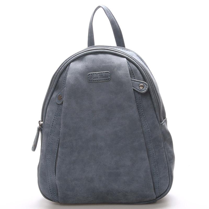 Dámský módní batůžek modrý - Piace Molto Cammi