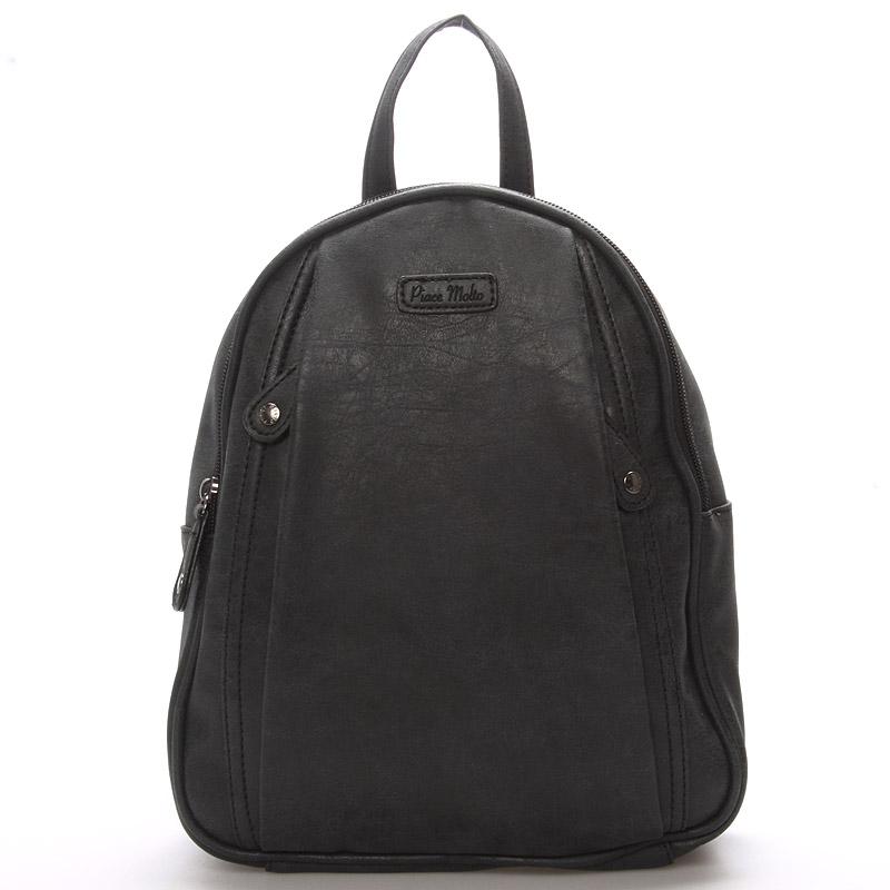 Dámský módní batůžek černý - Piace Molto Cammi