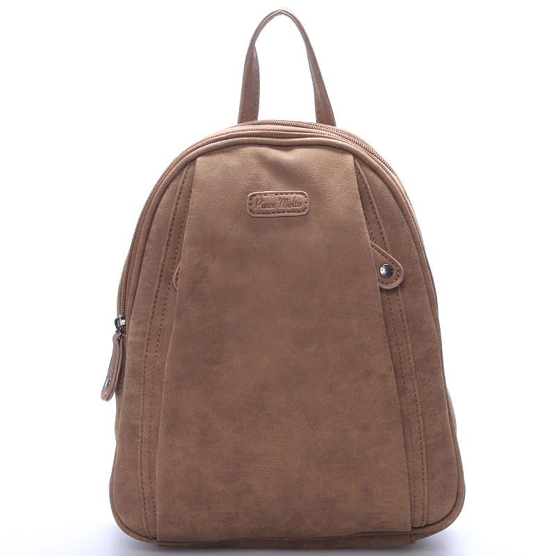 Dámský módní batůžek hnědý - Piace Molto Cammi