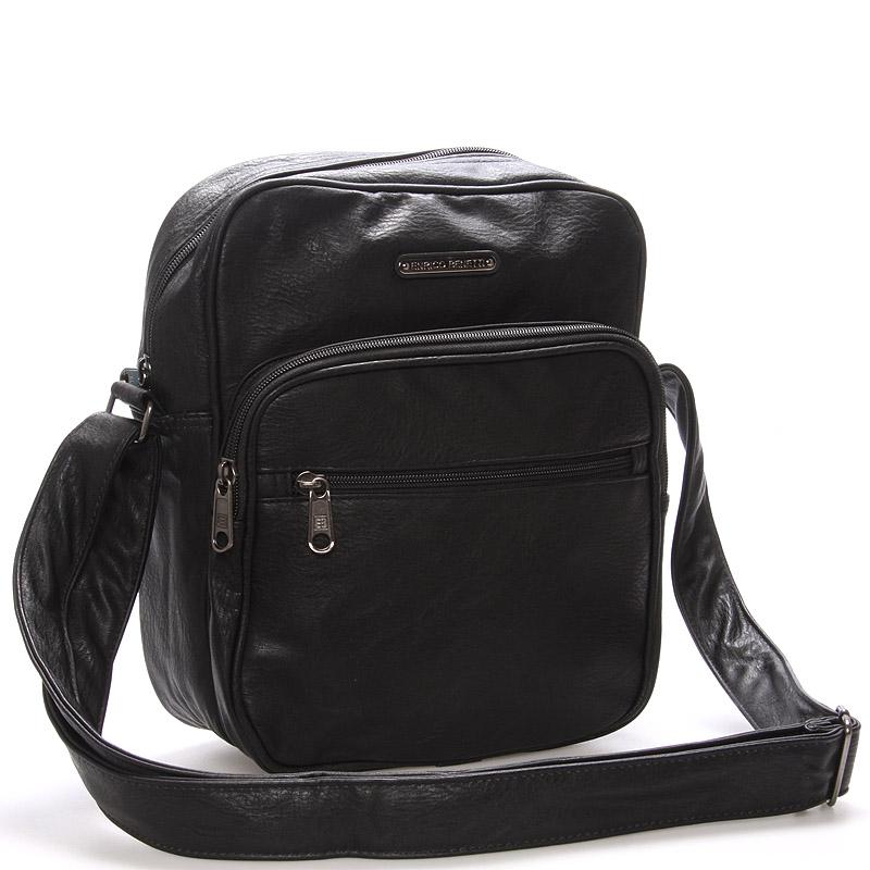 Pánská taška přes rameno černá - Enrico Benetti Telford