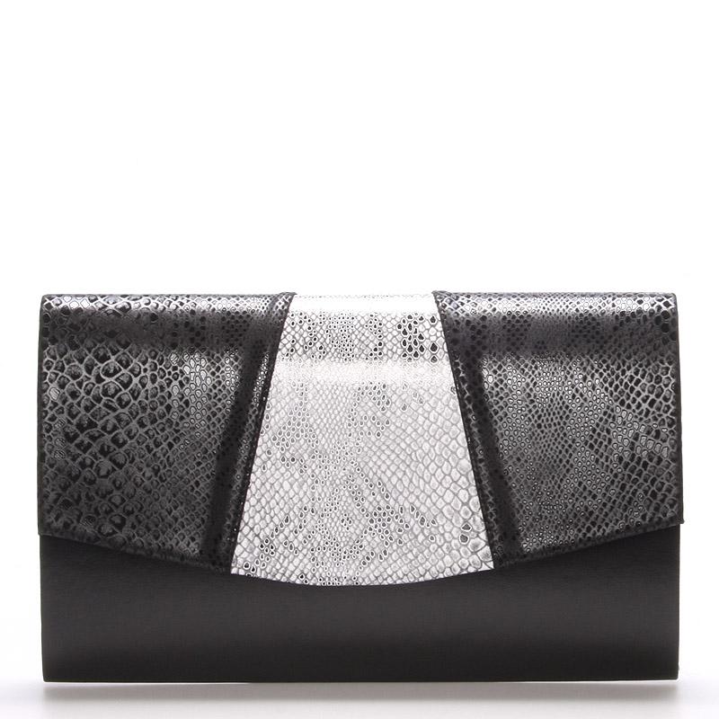 Luxusní černo hadí psaníčko Royal Style Madison