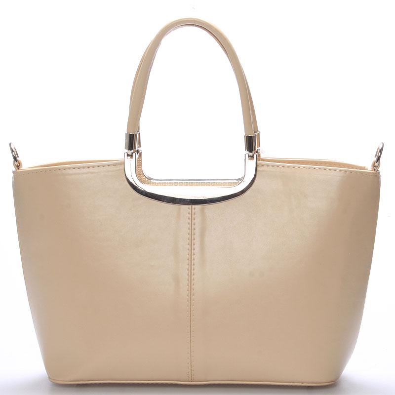 Elegantní béžová dámská kabelka do společnosti - Delami Sabrina
