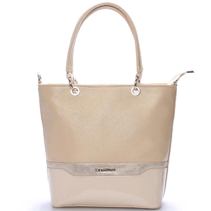 Elegantní dámská kabelka béžová - Delami Samanta