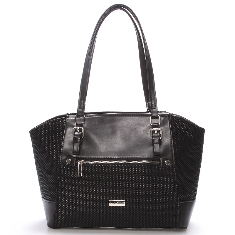 Luxusní černá dámská kabelka přes rameno - Delami Berry