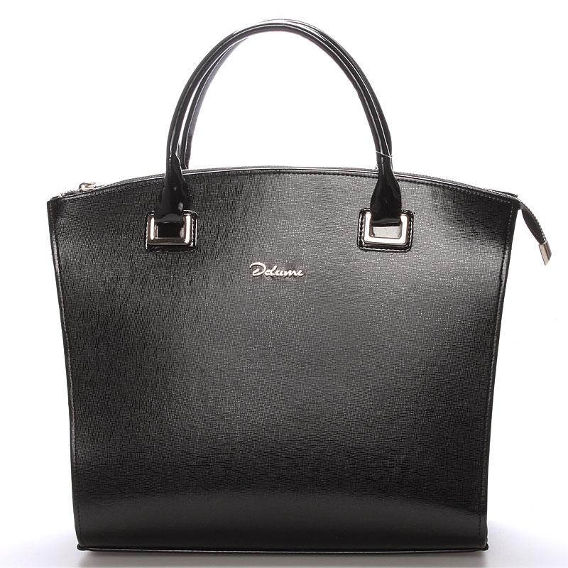 Dámská luxusní kabelka černá saffiano - Delami Florida