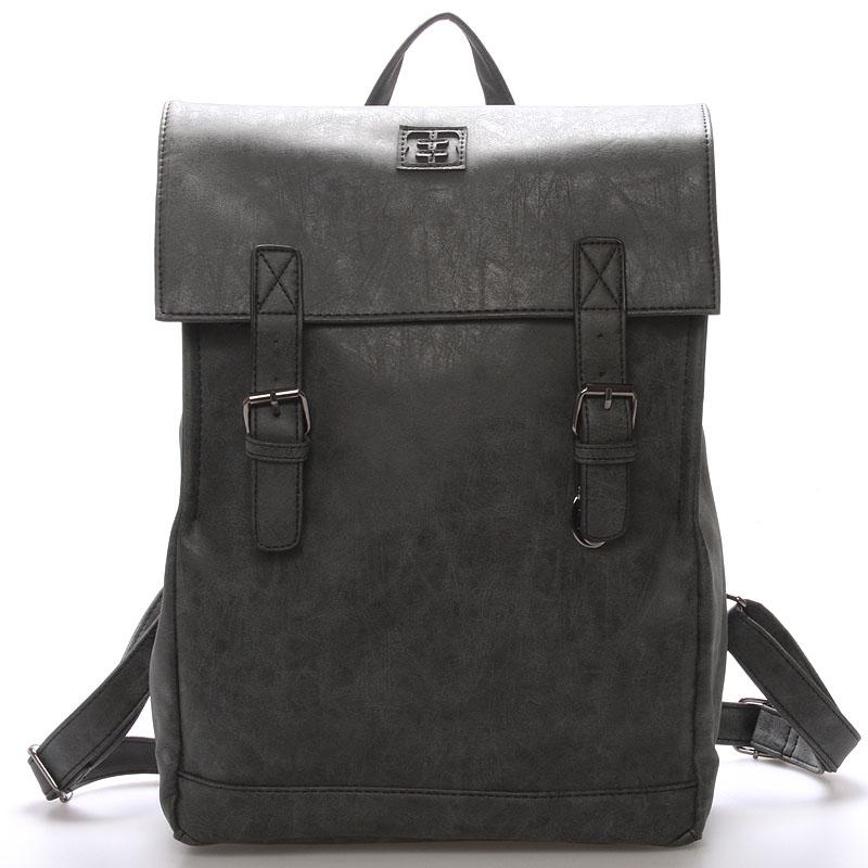 Módní stylový batoh černý - Enrico Benetti Travers