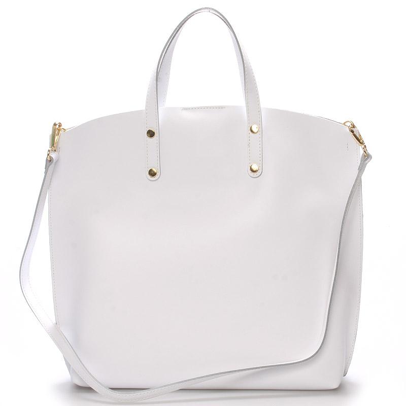 Bílá kožená kabelka do ruky - ItalY Sydney