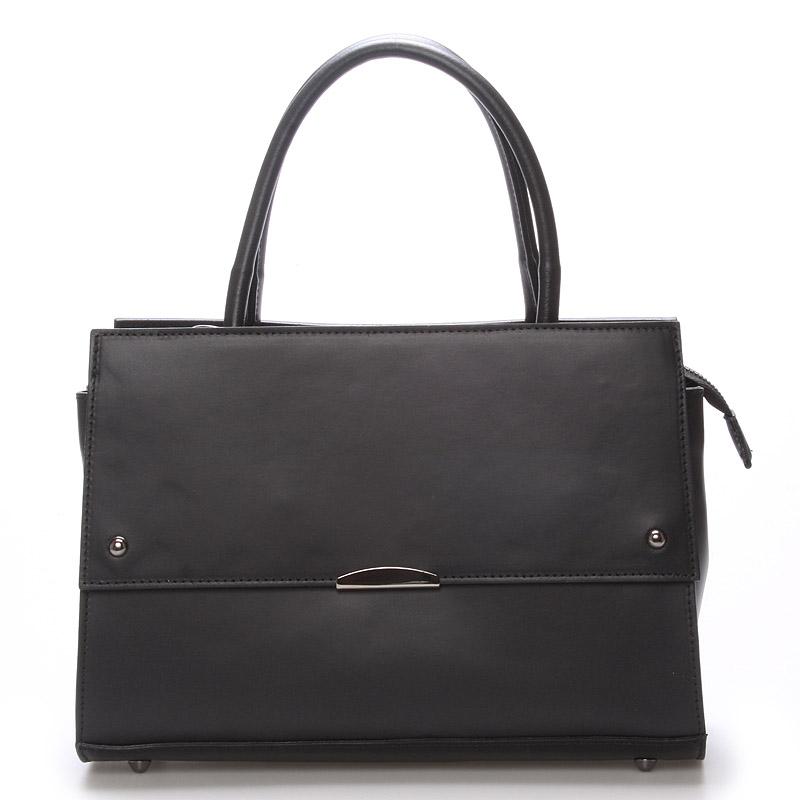 Exkluzivní dámská kožená kabelka černá - ItalY Alita