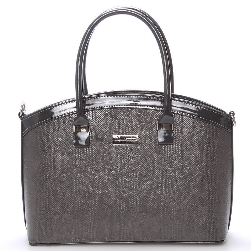 Elegantní tmavě šedá dámská kabelka do společnosti - Delami Renee