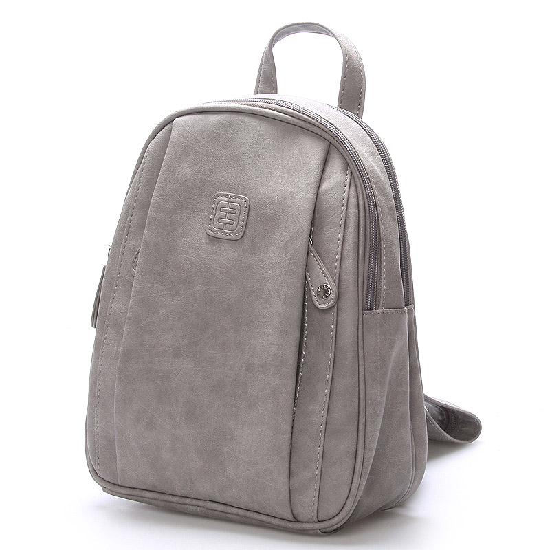 Módní stylový batoh šedý - Enrico Benetti Quali