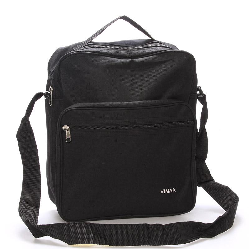 Pánská látková taška přes rameno černá - Sanchez ViMax