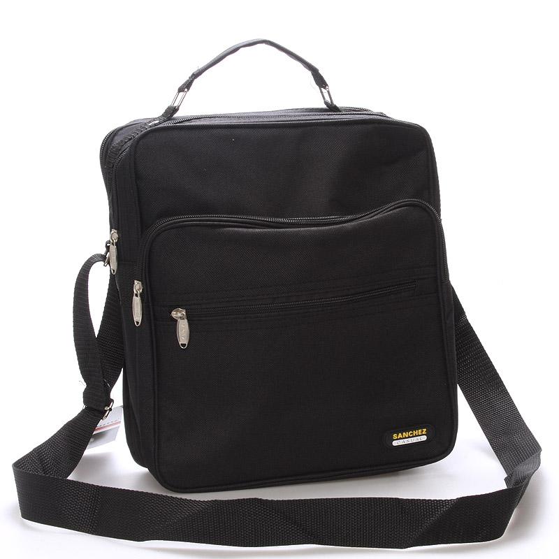 Pánská látková taška přes rameno černá - Sanchez Nial