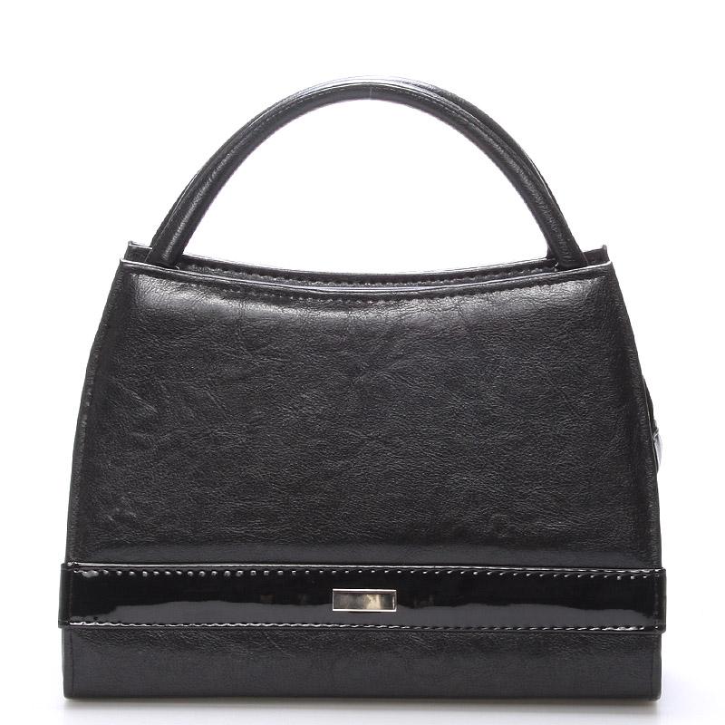 Černá menší kabelka do společnosti Royal Style s ornamentem S001