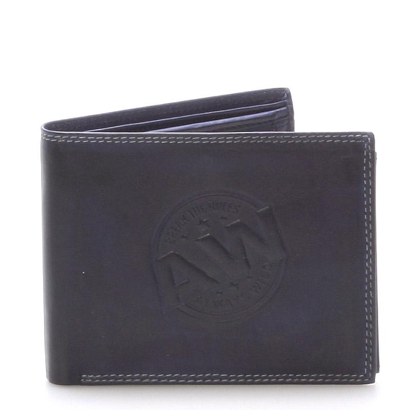 Pánská kožená peněženka modrá - WILD Beaufort