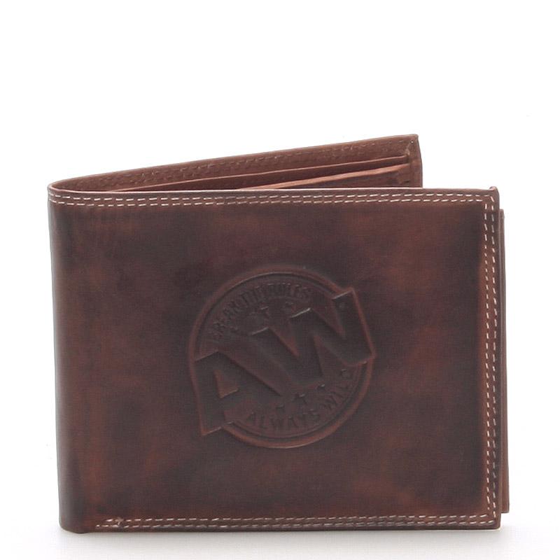 Pánská kožená peněženka hnědá - WILD Beaufort