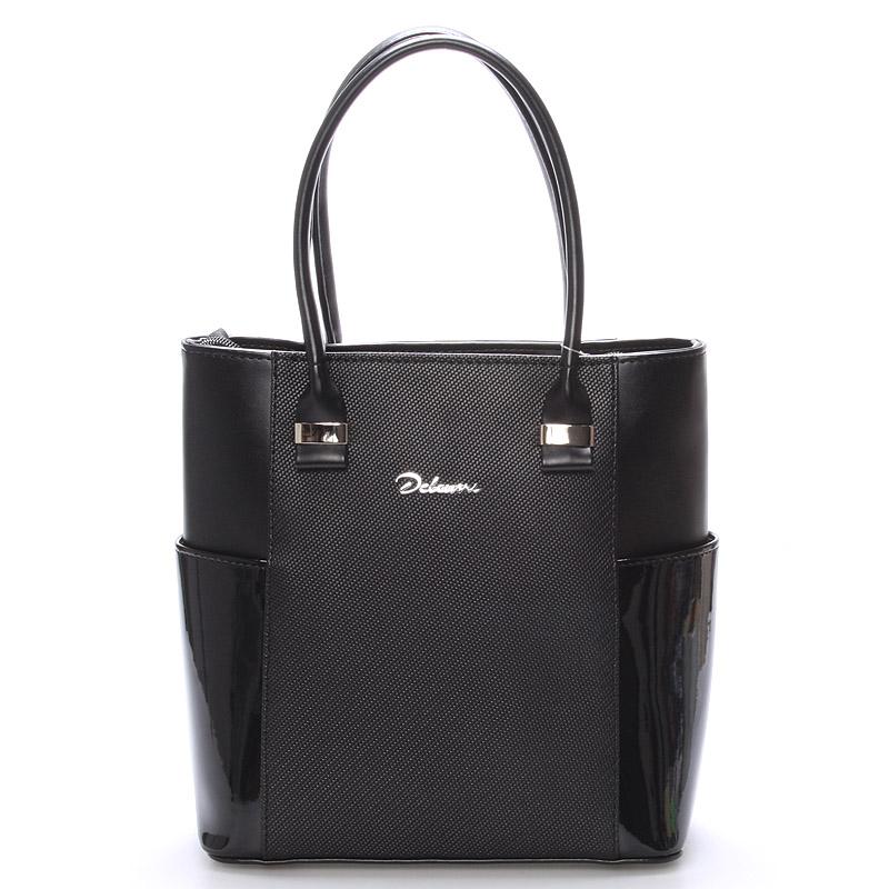 Elegantní dámská kabelka do ruky černá saffiano - Delami Vista