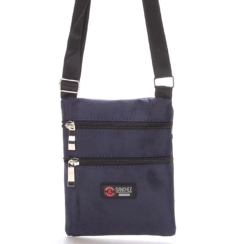 Textilní tmavě modrá unisex crossbody kapsička - Sanchez F85