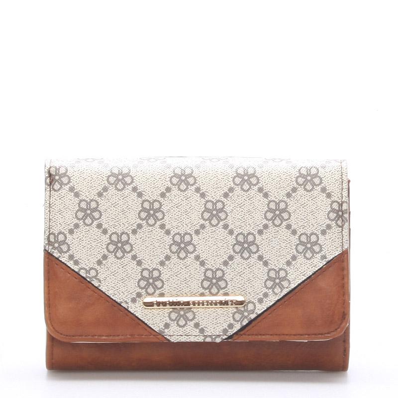 Elegantní větší dámská béžová peněženka - Dudlin M230