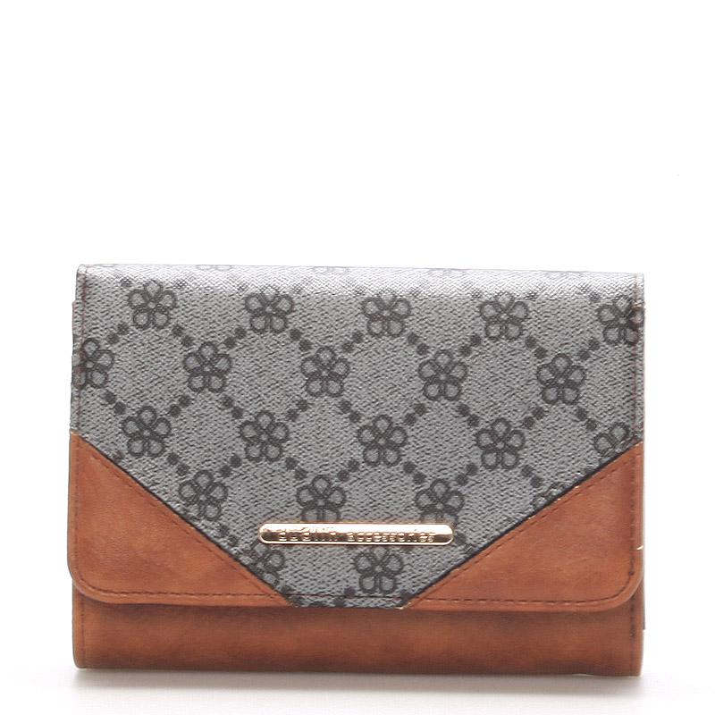 Elegantní větší dámská šedá peněženka - Dudlin M230