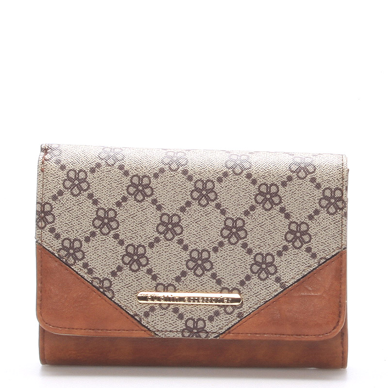 Elegantní větší dámská taupe peněženka - Dudlin M230