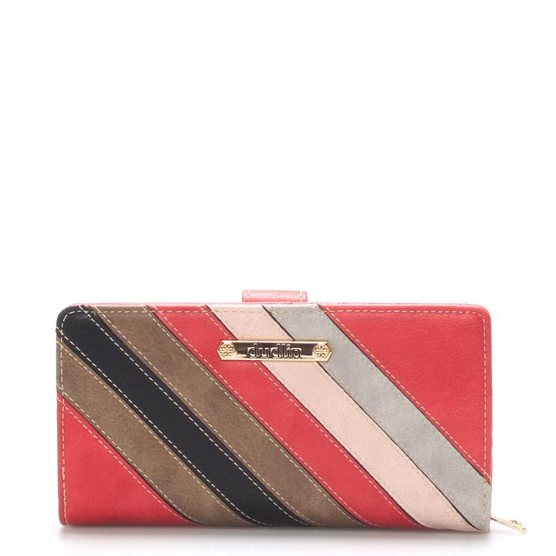 Dámská velká červená peněženka - Dudlin M245