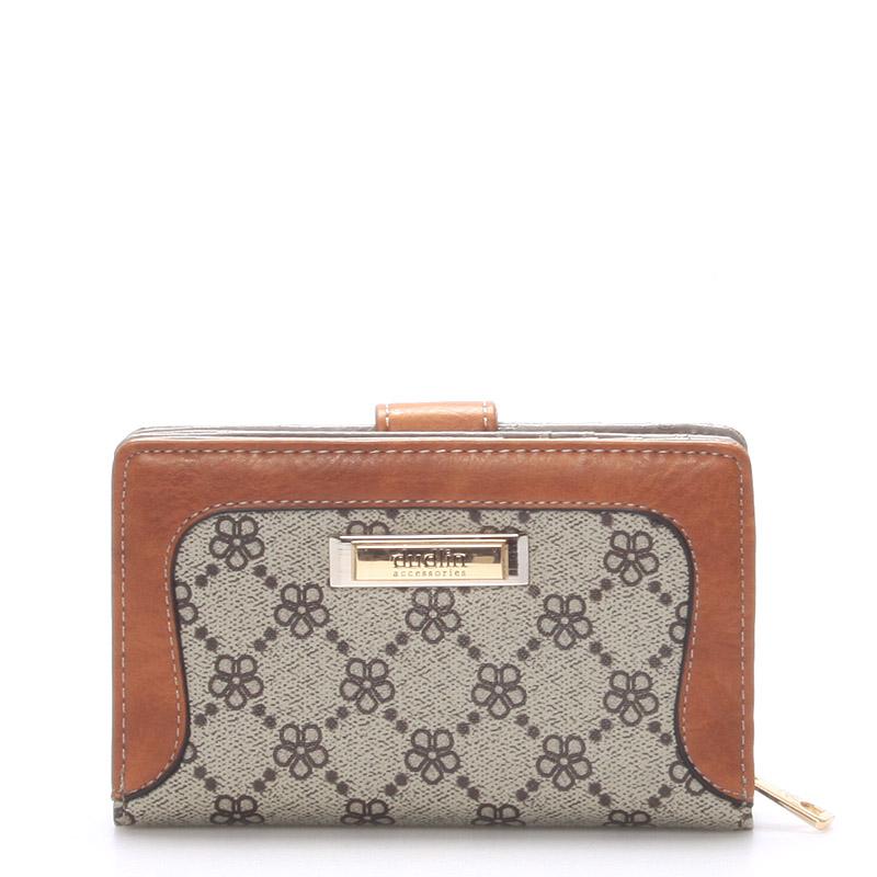 Elegantní dámská khaki peněženka - Dudlin M272