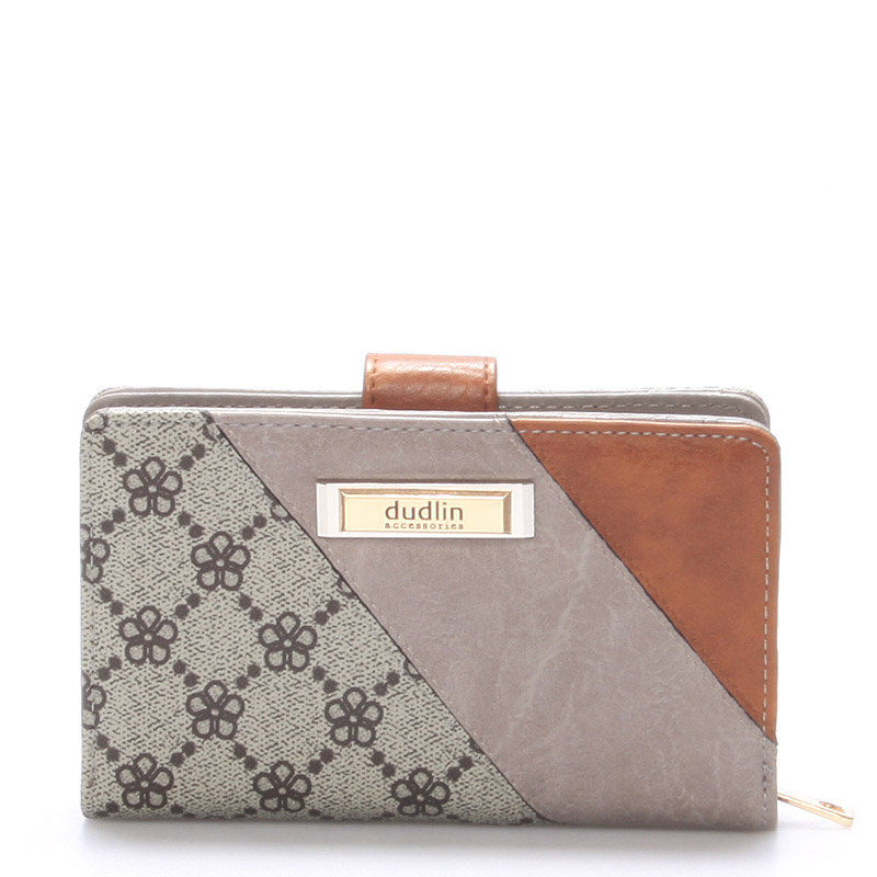 Větší módní dámská khaki peněženka - Dudlin M236