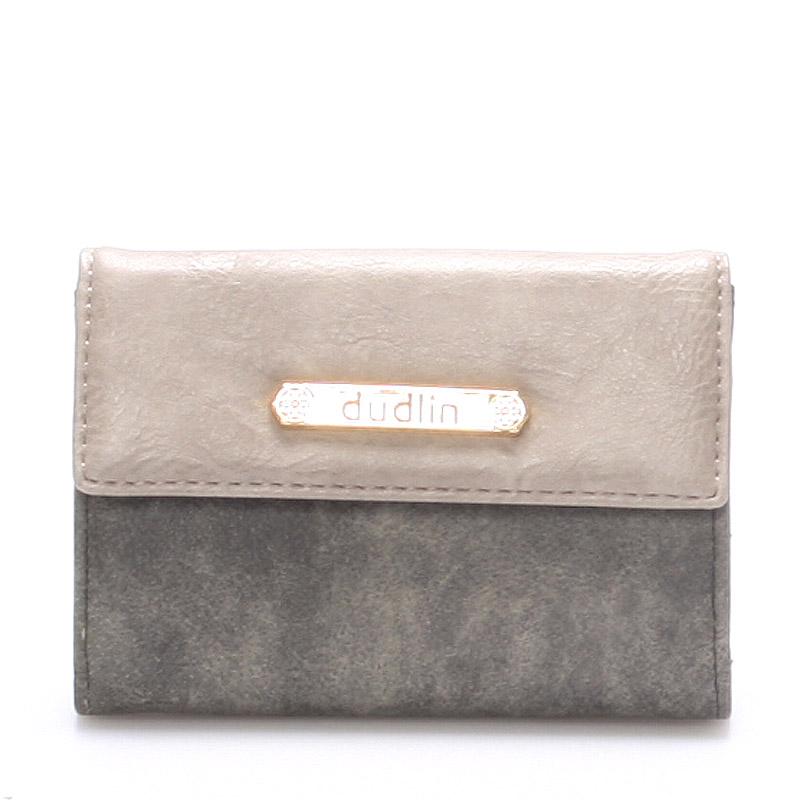 Dámská peněženka černo šedá - Dudlin M263