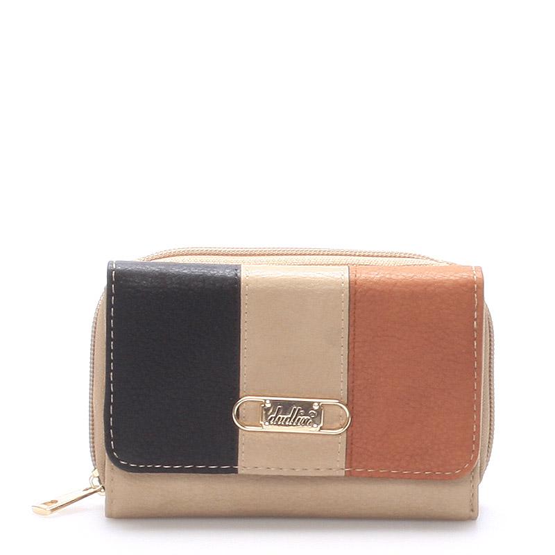 Prostorná dámská peněženka camel - Dudlin M264