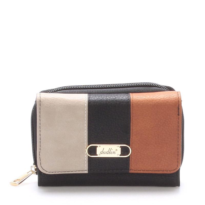 Prostorná dámská peněženka černá - Dudlin M264