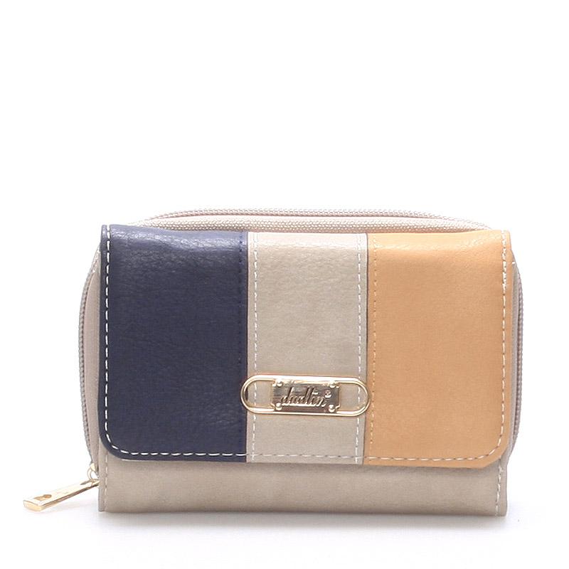 Prostorná dámská peněženka šedá - Dudlin M264