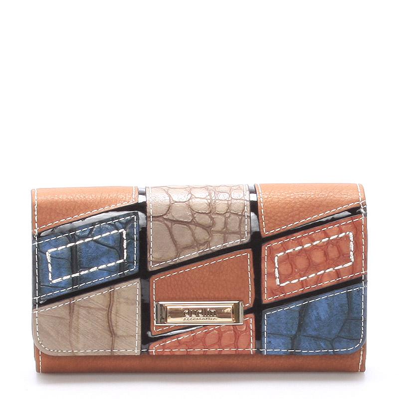 Originální velká dámská hnědá peněženka - Dudlin M256