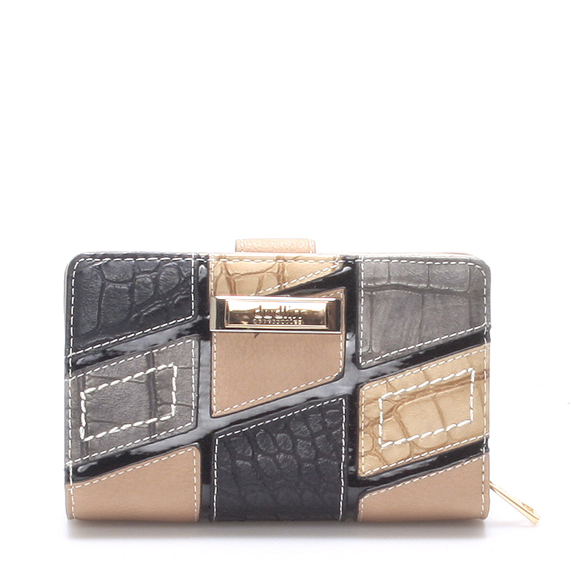 Originální větší dámská tělová krémová peněženka - Dudlin M257